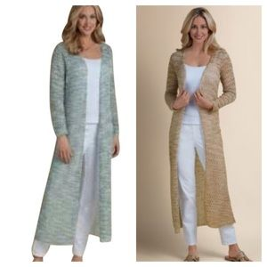Soft surroundings extra long cardigan duster XL